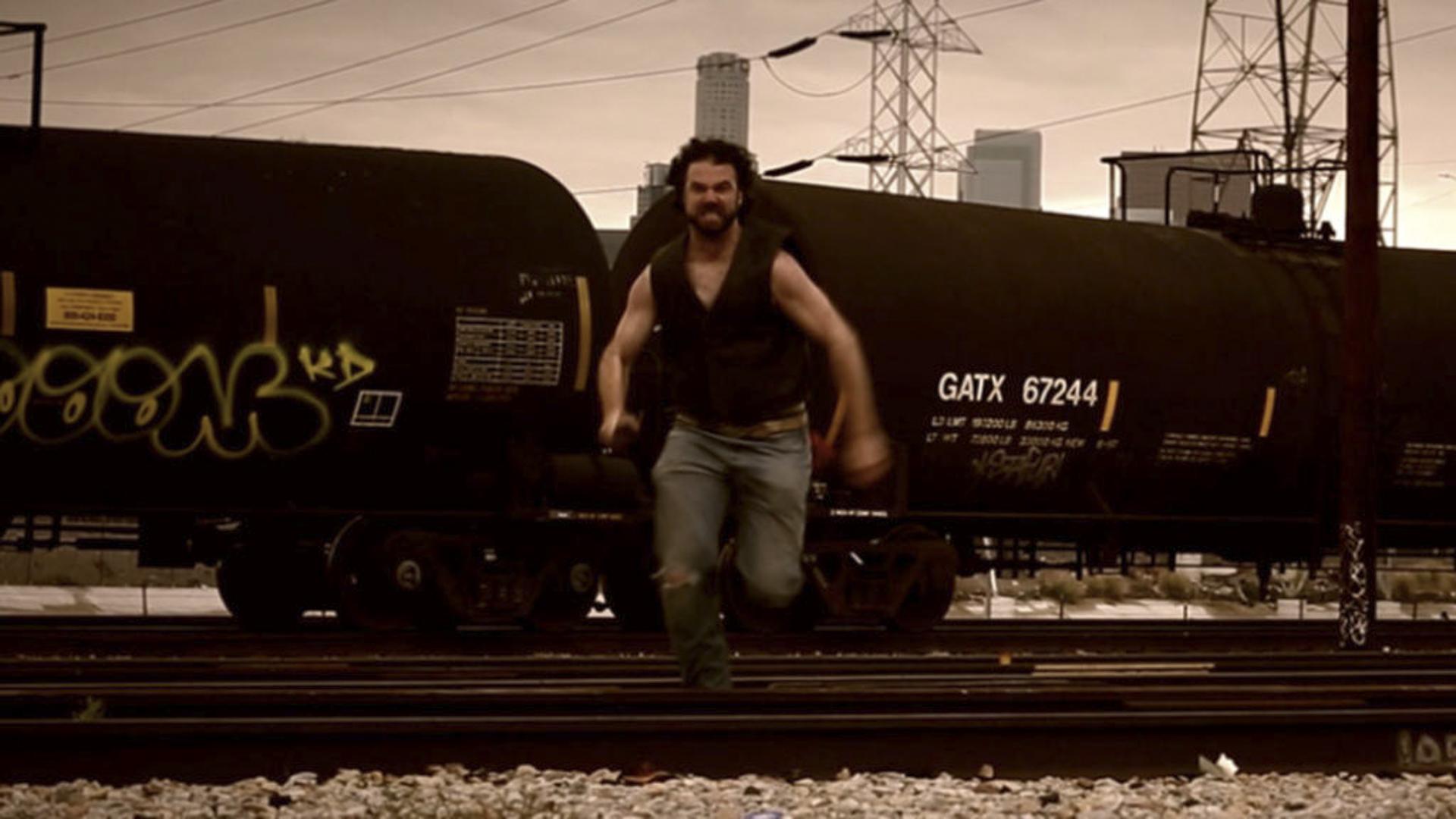 Train shot